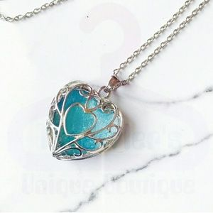 NWT Noctilucent Heart Shaped Necklace Pendant